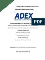 MEMORIA de GESTION_PROEXMAR_Conserva de Anchoveta en Aceite de Oliva - ADEX