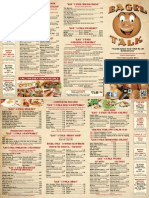 Bagel Talk Cafe Menu