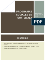 Los Programas Sociales en Guatemala