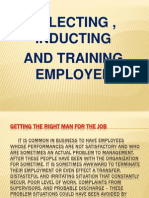 Selecting Inducting, And Training Employees