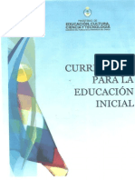 Curriculum Inicial