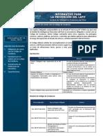 Informativos para la Prevención del Lavado de Activos y Financiamiento del Terrorismo