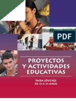Proyectos y actividades educativas para jóvenes de 15 a 21 años
