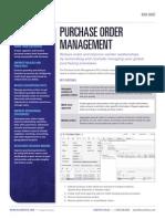 Acumatica Data Sheet Purchase Order Management