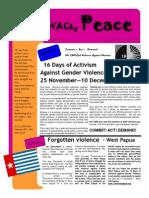 WACky Peace Nov 2009 16 Days Campaign Edition