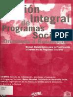 Gestion Integral de Programas Sociales SIEMPRO Parte 1