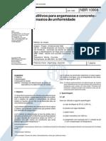 NBR10908 - Aditivos Para Argamassa e Concreto - Ensaios de Uniformidade