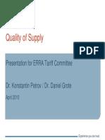 Petrov Quality of Supply Regulation Tariff Budapest 2010 Eng