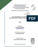 De La Insurgencia a La Legalidad La Experiencia de La Guerrilla Guatemalteca