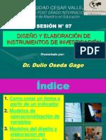 Diseño y Elaboracion de Instrumentos