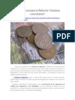 ¿En Qué Consiste La Reforma Tributaria Colombiana?