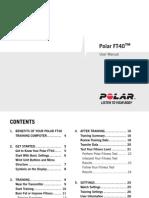 Polar FT40 User Manual English