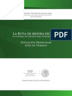 2014-2015 CTE Fase Intensiva PREESCOLAR Guía de Trabajo