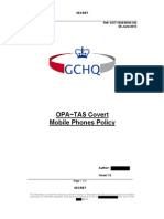 GCHQ Covert Mobile Phones Policy
