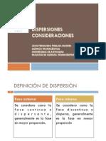 1 Dispersiones. Consideraciones