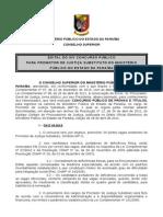 Edital XIV Concurso Promotor Subst MPPB 2011