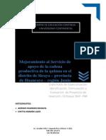 Servicio de Apoyo de La Cadena Productiva de La Quinua