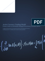 Jackson Capital - Active Currency Trading Model Product Guide for Individually Managed Discretionary Accounts (MDA)