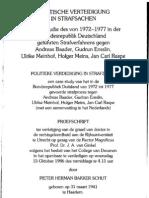 Politische Verteidigung in Strafsachen - Bakker Schut