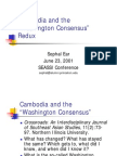 Cambodia and the 'Washington Consensus' Redux