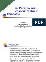 Tobacco, Poverty, and Socioeconomic Status in Cambodia