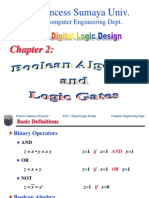 Chapter 2 Boolean Algebra & Logic Gates