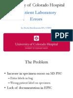 uexcel specimen errors ppt for qsa meeting