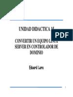LINUX - UD15 - Controlador de Dominio en Linux