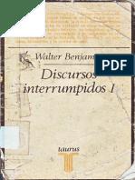 Discursos Interrumpidos I - Walter Benjamin