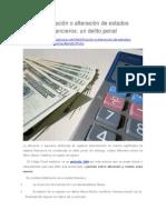 Falsificación o Alteración de Estados Financieros