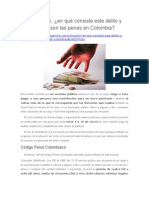 Concusión, En Qué Consiste Este Delito y Cuáles Son Las Penas en Colombia