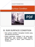 2. Dasar Pemboran - Sub Surface Condition