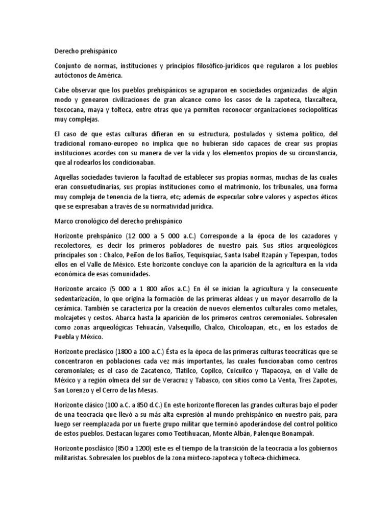 207236811 Derecho Prehispanico 1 época Precolombina México