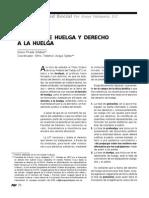 Derecho de Huelga y Derecho a La Huelga