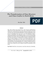 Transformation of Class Structure