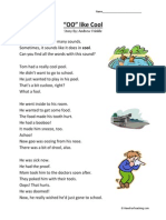 Oo Like Cool Second Grade Reading Comprehension Worksheet