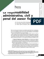 La Responsabilidad Administrativa, Civil y Penal Del Asesor Fiscal