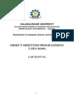 OOPs Lab Manual