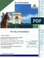 The City of homestead Sohna Gurgaon