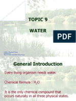 Topic 9 Water