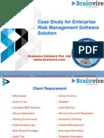 Case Study for Enterprise Risk Management Software Solution