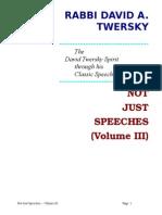 Not Just Speeches -- Volume III