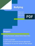 Bullying Prevention Presentation to 6th Grade