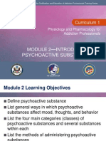 C1 Mod 2 – Introduction to Psychoactive Substance Use