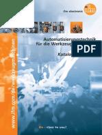 ifm Automatisierungstechnik Werkzeugmaschinenindustrie Katalog 2014 2015 DE