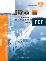 ifm Automation Technology Machine Tools Industry Catalogue 2014 2015 GB