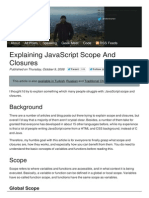 Explaining Javascript Scope and Closures Robert s