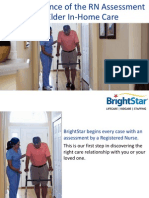 The Importance of the RN Assessment in Elder In Home Care