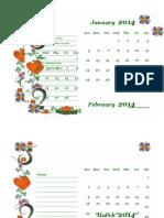 2014 Monthly Calendar Landscape 02