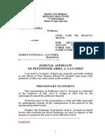 Judicial Affidavit Lapiez